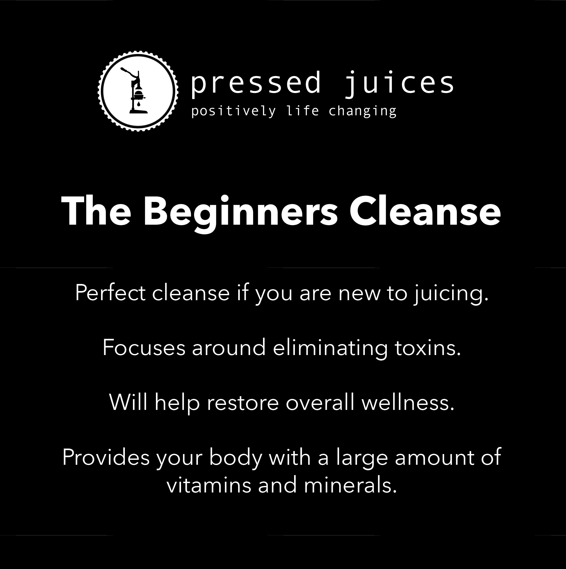 Beginners Cleanse | Basic Cleanse | Pressed Juices